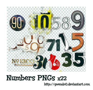 Numbers PNG x22 by gwendo0