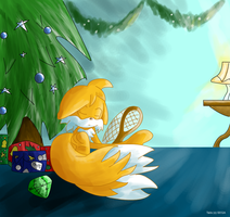 Must.. Catch.. Santa...- Tails by RocTheHedgehog