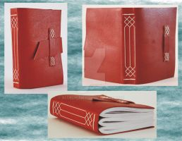 Small Leather Journal - Medieval Limp Binding by Bluelisamh