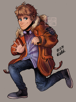 [Gift] Dude With The Orange Jacket by Cootsik