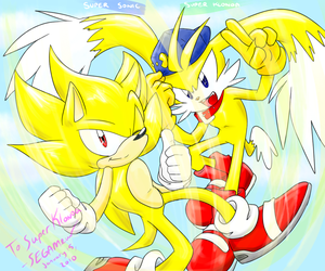.:AT:. Super Sonic and Klonoa by SEGAMew