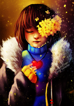 Frisk - FlowerFell by Nasuki100