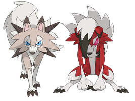 Lycanroc Vector by AwokenArts