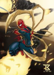 Infinity War: Iron Spider by LetoArt