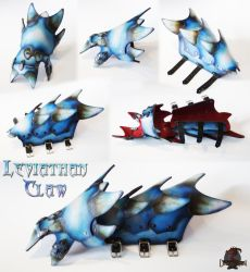 Leviathan Claw - Frost Scale Bracer by AetherAnvil
