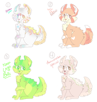 doggo adopts (1/4 open m'dudes) by pyqmy