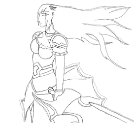 Valkyrie Jennifer (Sketch WIP) by JenniferLee1991