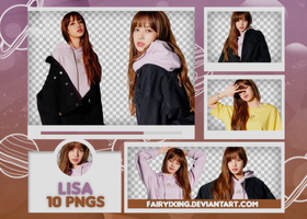 [PNG PACK #587] Lisa - BLACKPINK (VOGUE MAGAZINE) by fairyixing