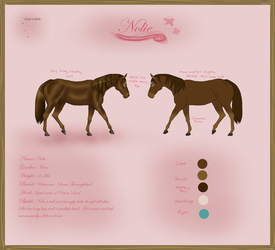 Nolie Reference Sheet by NightimeMare