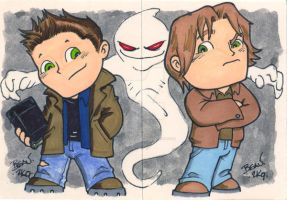 Chibi-Supernatural Cards by hedbonstudios