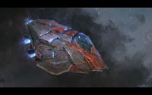 Scout Ship Concept by JoshuaNel