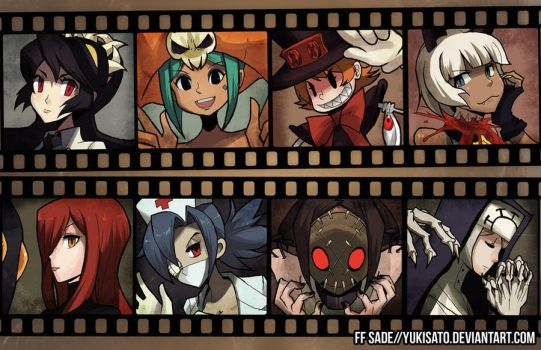 SKULLGIRLS - character roster by ffSade