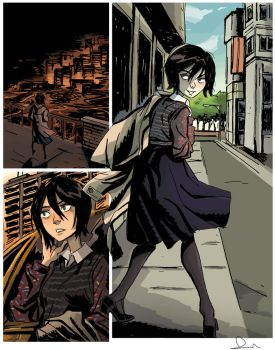 Rukia in the City by theintrovert