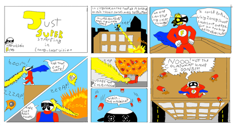 mini comic just super: loony laser vision by robertoadder8