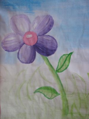 Purple Flower Painting by Toad-x-Yoshi-x-Peach