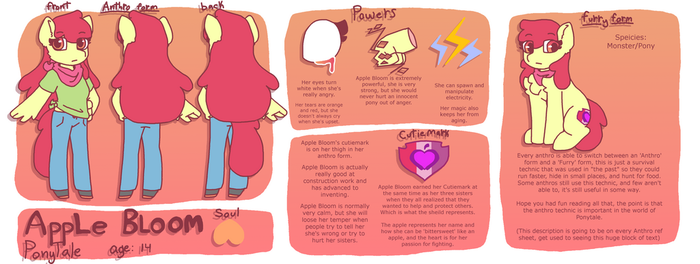 PT Apple Bloom reference sheet by synnibear03