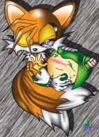 Tails and Cosmo Colored by taichao