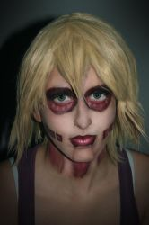 Makeup test: Annie from attack on titan by Lucy-Dark-Dreams