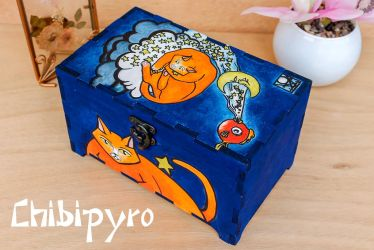 Painted Cat Box by ChibiPyro
