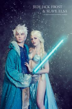 Jedi Jack Frost and Slave Elsa by mariesturges