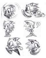 Sonic the Hedgehog pencil 2 by foxheadTails