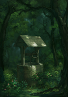 well in the woods by Llyncis