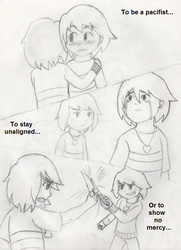Undertale- Same People, Different Paths by PKMNTrainerSpriterC