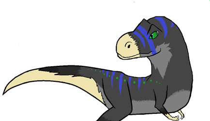Small MSpaint T.rex doodle by HerothTheDragon