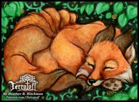 Kitsune Collection #1 Sleepy Fellow by HeatherHitchman