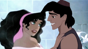 Esmeralda and Aladdin by SweetKairi1992