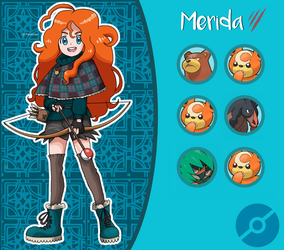 Disney Pokemon trainer : Merida by Pavlover