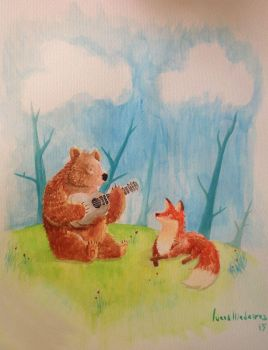 Fox and Bear by gravedivision