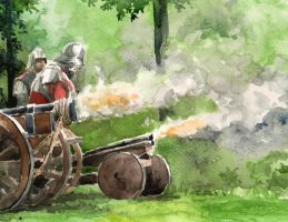Medieval Cannons Fire by Entar0178