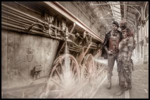 Steampunk Train Station by ChristianBT