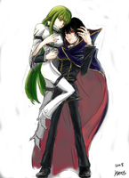 lelouch and C.C. by kyocs