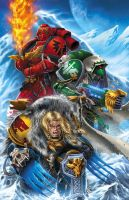 Warhammer Christmas Card by BlondTheColorist