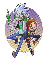 COMM: Punk Rick and Morty by SupaCrikeyDave