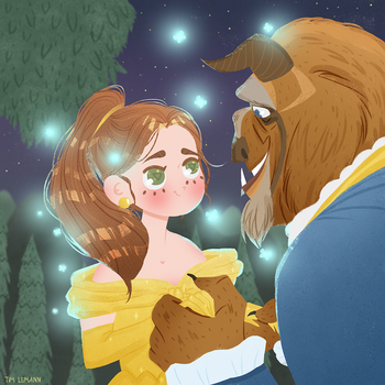 Beauty and the beast fan art by Lemanntim