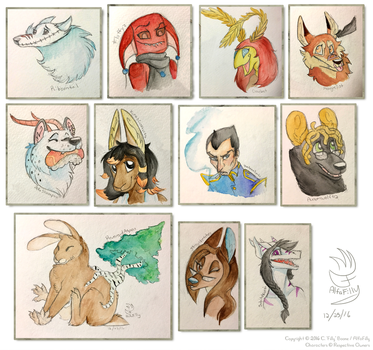 Delightful Christmas Portraits! by AlfaFilly