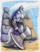 Barbarian Guard by wolfgangcake