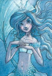 Frost Queen Mermaid ACEO by maina