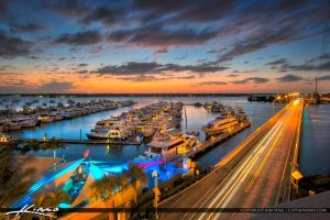 After Sunset Roosevelt Bridge Marina View by CaptainKimo