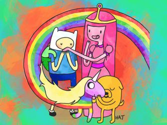 AAAADVENTURE TIME WALLPAPER by sprinklexeater