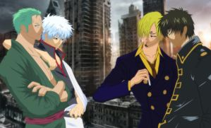One Piece X Gintama : Are You Ready To Fight ?! by suwiwitwicky46
