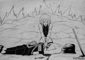 SasuSaku Month Day 20 - Sacrifice by SofijaKpop18