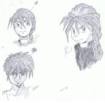 -GW- Doodles I: Heero and Duo by FemaleShinigami
