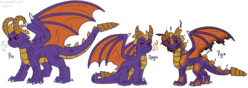 Spyro Split: Ro and Pyre by Regreme