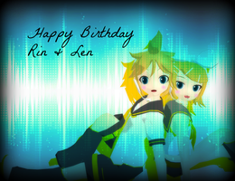 Happy Birthday Rin and Len  2013 by MoonPie-chan