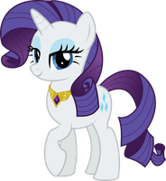 MLP Vector - Rarity #3 by jhayarr23