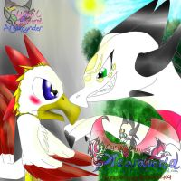 Kawcaw and Angel by AngelCnderDream14